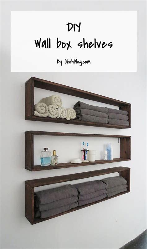 Wall Box Shelves Best 25 Diy Wall Shelves Ideas On