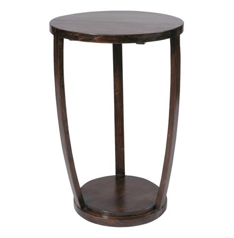 accent end table gotham espresso contemporary tall 27 quot h accent table