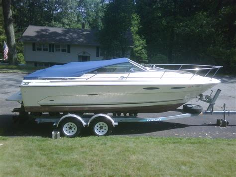 used boat trailers in ct sold 1985 sea ray cuddy cabin 21ft w trailer 3 000 the