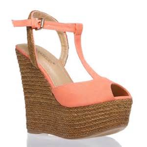 color shoes color wedges color crush coral