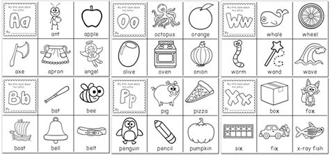 printable alphabet letters books alphabet flip book printable coloring pictures to pin on