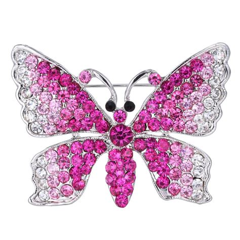 christmas gifts silver butterfly rhinestone crystal
