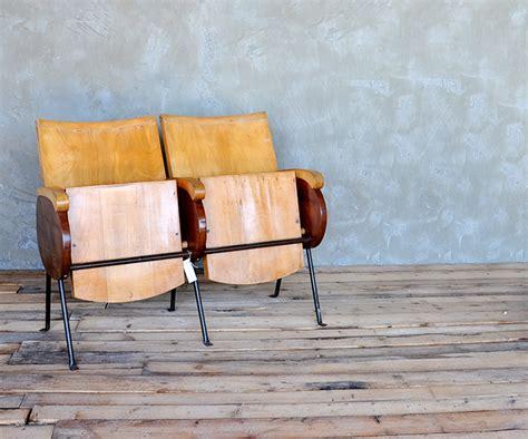 sedie cinema legno sedie cinema legno vintage idea di casa