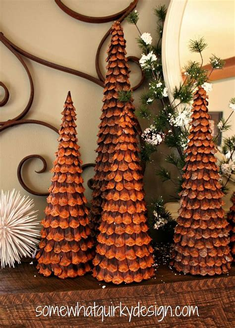 pine cone christmas trees by somewhat quirky design hometalk