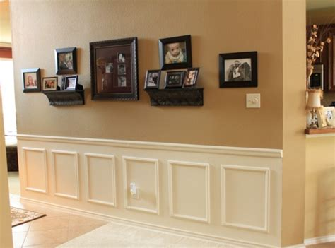 Square Panel Wainscoting Diy Wainscoting Use Wooden Appliques Chair Rail And