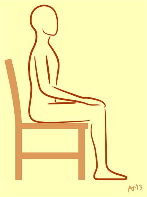 Sit In A Chair Or Sit On A Chair by Sitting On A Chair Artreeyoga