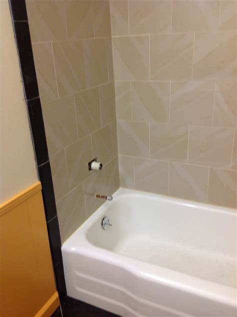 Backsplash Tile Ideas For Bathroom by Guest Bathroom Day 39 Finish Tub Surround And Trim