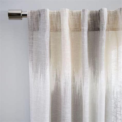 linen cotton curtains linen cotton ikat blocks curtain west elm