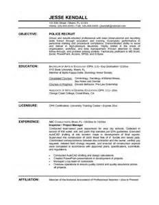 exle recruit resume free sle