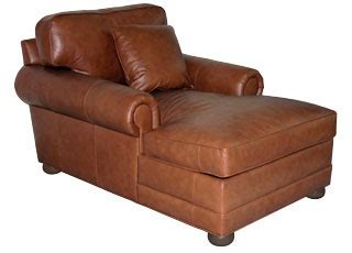 Large Two Arm Leather Chaise Lounge Club Furniture