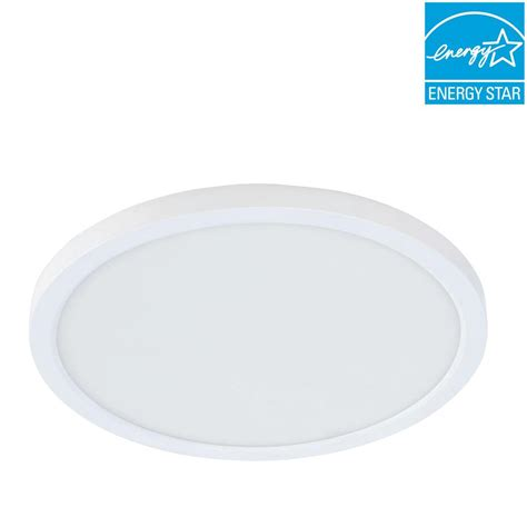 commercial electric 4 in j box 8 watt dimmable white