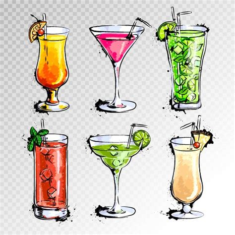 cocktail illustration cocktail my free photoshop