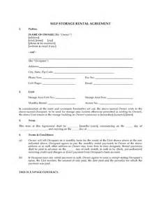 Self Storage Rental Agreement Template by Usa Self Storage Unit Rental Agreement Forms And