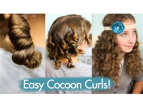 cute hairstyles for curly hair no heat cocoon curls easy no heat curls cute girls hairstyles