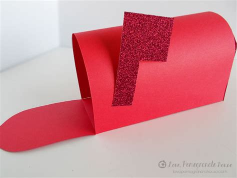 How To Make A Mailbox Out Of Paper - diy valentines mail box pomegranate house