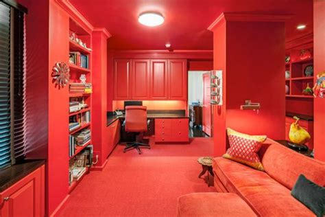 dipped  cherry monochromatic rooms