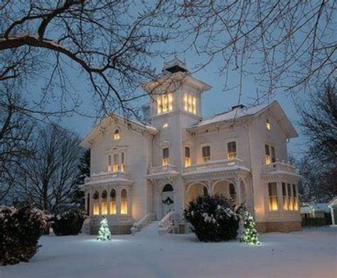 winter houses pretty victorian house in winter houses pinterest