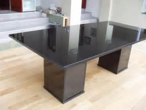 Black dining table granite dining room design gallery