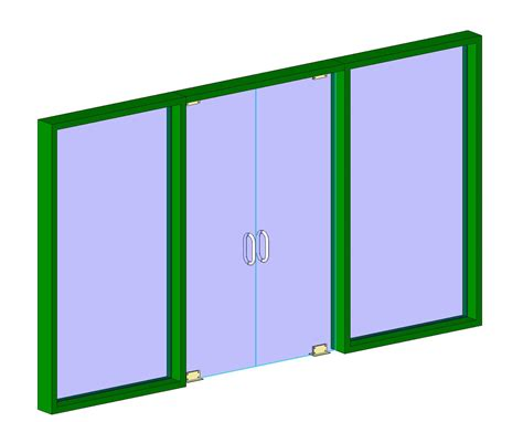 revit door in curtain wall bim objects families