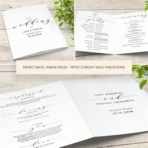 Pages Template Menu Card by Wedding Menu Template 5x7 And Page Menu Printable