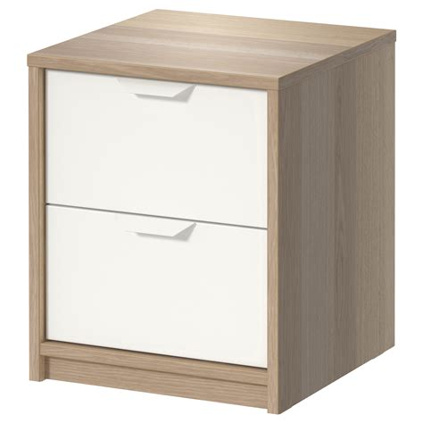 ikea pull out drawers askvoll chest of 2 drawers white stained oak effect white