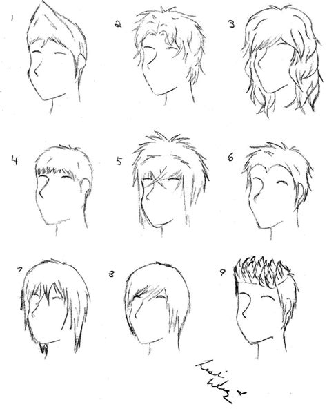 male anime hair by alicewolfnas on deviantart