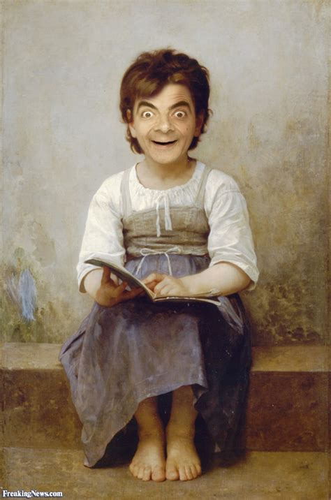 painting mr bean mr bean rowan atkinson pictures gallery freaking news