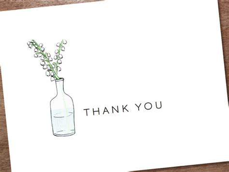 6 best images of thank you note printable template