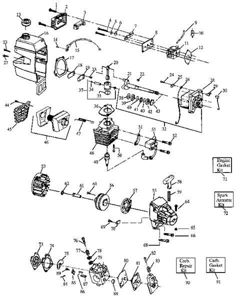 craftsman eater parts diagram craftsman eater starter rope replacement
