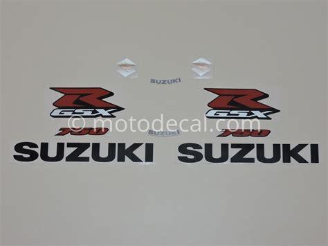 Suzuki Decal Kit Suzuki Gsx R 750 2007 Black Decal Kit By Motodecal
