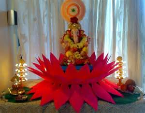 ganpati home decoration ganesh chaturthi decoration ideas for home mandap