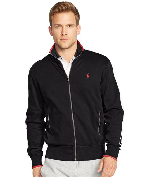 Jaket Nike Polos polo ralph s zip interlock track jacket in