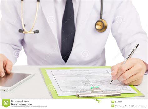 Doctor Records Doctor Record History Or Filling Form Stock Photo Image 55548998