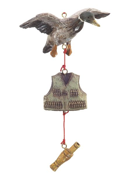 duck hunter christmas ornament hunting
