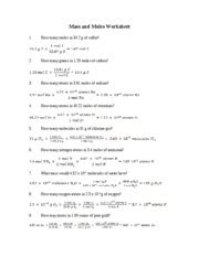 Moles Molecules And Grams Worksheet by Mole Calculation Worksheet Answers Lesupercoin Printables