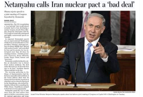 outline of iran nuclear deal sounds different from each toronto star clarifies israeli pm did offer alternative