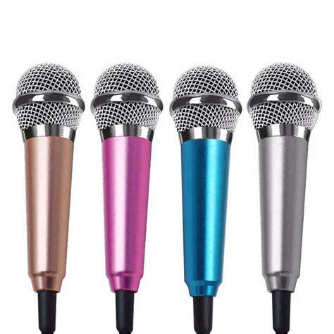 Mini Smartphone 3 5mm Microphone With Mic Stand Pink portable mini 3 5mm stereo studio speech mic audio microphone for phone smart phone desktop