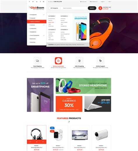 clickboom template wordpress woocommerce wordpress