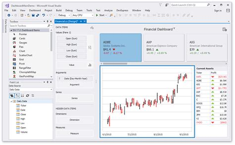 Visual Studio Designer Dashboard Devexpress Help Visual Studio Dashboard Template