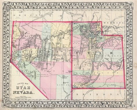 road map of utah and nevada file 1872 mitchell map of utah and nevada geographicus