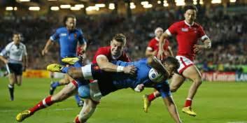 coupe du monde de rugby les bleus virent en t 234 te mais se