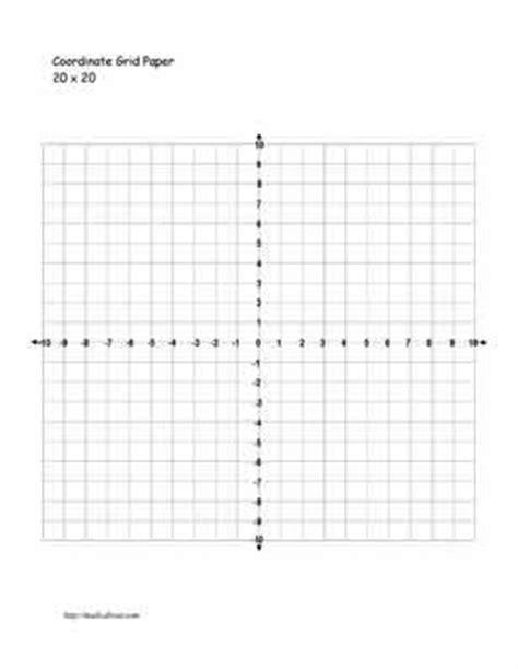 Coordinate Plane Printable 20 X 20