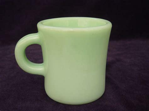 Handle Green Coffee jadite green king c handle coffee mug cup jadeite