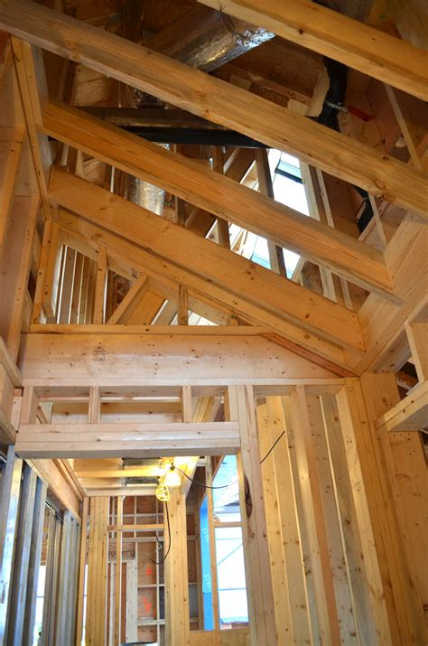 Wood Frame Ceiling by Dunbar House Wall And Floor Framing 171 Home Building In Vancouver