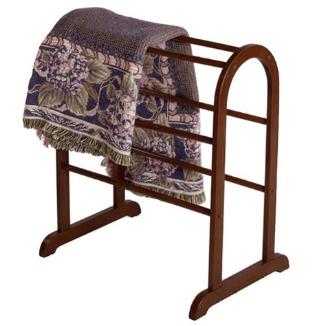 comforter holder rack walnut quilt and blanket rack in quilt racks