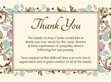funeral note cards template sympathy thank you cards