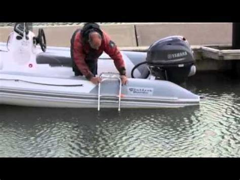 boarding ladder for inflatable boat inflatable boat boarding ladder youtube