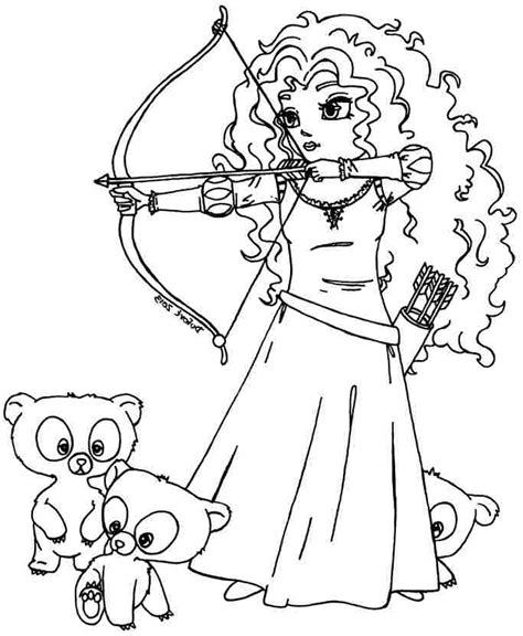 princess merida coloring page printable coloring pages disney princess merida brave for