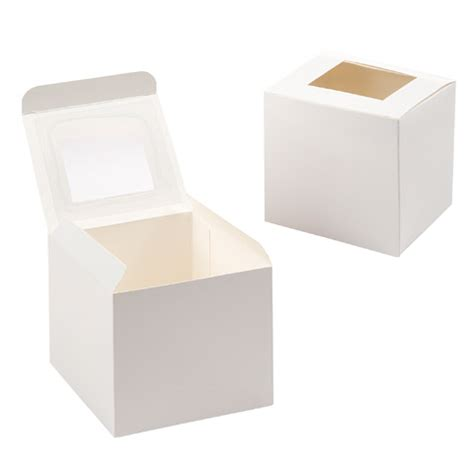white cupcake boxes with window individual white cupcake box with acetate window 12 pack