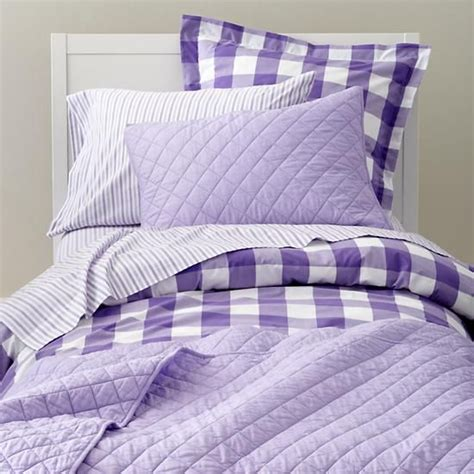 lavender bed sheets breezy gingham bedding lavender